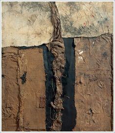 Alberto Burri. Sacco (c. 1953. Burlap, paper and fabric on canvas)