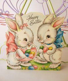 Charming vintage Easter bunny card.