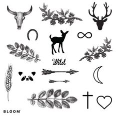 "tattoo d'été, Tatouages ""Wild"" de Bloom"