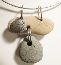 REVERSIBLE TOO!  :) Sea Pottery Beach Hole Rock Necklace Beach Glass Pottery Holy Stone.  via Etsy.