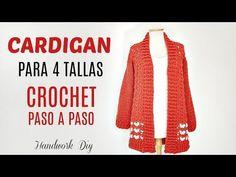 Ahora puedes tejer con crochet tu cardigan & gorro a crochet para este invierno. Tutorial paso a paso para aprender a tejer cardigan a crochet