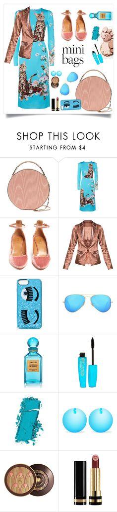 """So Cute: Mini Bags"" by alinepinkskirt on Polyvore featuring Eddie Borgo, Dolce&Gabbana, Aquazzura, Chiara Ferragni, Ray-Ban, Tom Ford, Rimmel, Maybelline, Balenciaga and Guerlain"