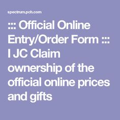 Official Online Entry/Order Form ::: | Publishers clearing housed ...