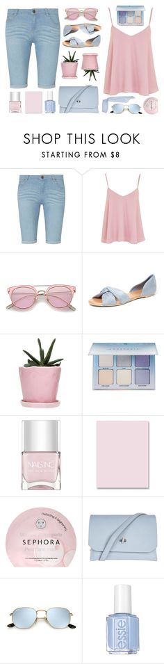 """""""Untitled #2183"""" by tinkertot ❤ liked on Polyvore featuring Dorothy Perkins, Topshop, Dot & Bo, Anastasia Beverly Hills, Nails Inc., Sparco, Sephora Collection, Essie and MDS Stripes"""