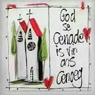 God se genade is vir ons genoeg.
