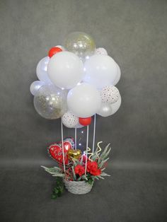 Handmade Birthday Gifts, Best Birthday Gifts, Birthday Fun, Birthday Ideas, Balloon Flowers, Balloon Bouquet, Balloon Decorations, Birthday Party Decorations, Valentine's Day Gift Baskets