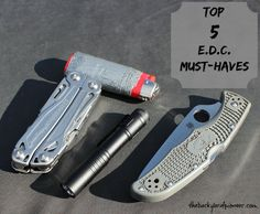 Every Day Carry items are the little pieces of gear that make day to day life just a little bit easier and these are the Top 5 must haves!