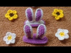 HOW TO CROCHET: BUNNY EARS HAIR CLIP - YouTube