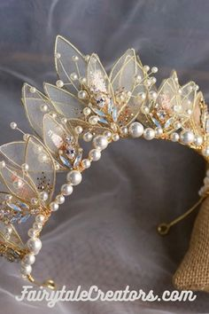 Crown Aesthetic, Princess Aesthetic, Headpiece Jewelry, Hair Jewelry, Floral Headdress, Magical Jewelry, Fantasy Jewelry, Tiaras And Crowns, Cute Jewelry