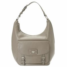"Pebbled finish hobo with metal hardware features front snap pocket and adjustable over the shoulder strap. Zip top closure. Inside features single zip and dual slip pockets. Measures approx. 16"" L x 11.5"" H x 4"" D."