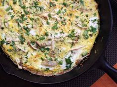 Make a quick fritatta with shredded turkey, eggs, and whatever leftover veggies you have on hand: