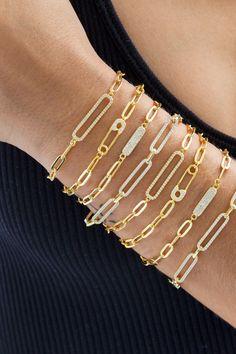 Toggle Clasp Bracelet Link Chain Bracelet Chunky Bangle Front Clasp Bracelet Oval Cable Chain Bangle Statement Bracelet Rectangle Chain Cuff