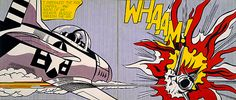 Whaam, 1963 by Roy Lichtenstein - one of the earliest known examples of pop art.