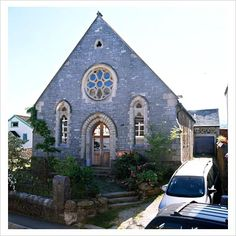 The converted church for me...just my size and adorable...  <3<3<3