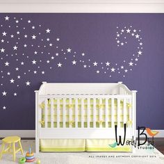 Baby Nursery Decals star confetti wall decals stickers for baby girl or baby boy