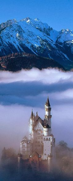 Castelo de  Neuschwanstein,Baviera-Alemanha.Neuschwanstein Castle, Bavaria-Germany