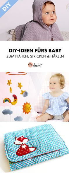 DIY-Ideen fürs Baby zum Nähen, Stricken & Häkeln - Anleitungen via Makerist.de #stricken #strickenmitmakerist #strickenmachtglücklich #strickenisttoll #knitting #knit #knittersoftheworld #knittersofinstagram #nähenmitmakerist #nähen #nähanleitung #schnittmuster #schnitt #pdfschnitt #pdfpattern #nähenmachtglücklich #nähenistwiezaubernkönnen #nähenisttoll #baby #babygirl #babydiy #babyclothes #babykleidung