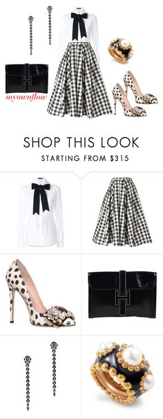 """""""QUEEN"""" by myownflow ❤ liked on Polyvore featuring Dolce&Gabbana, Michael Kors, GEDEBE, Hermès, Fallon and Chanel"""