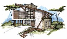 design home ideas Sketchbook Architecture, Architecture Concept Drawings, Pavilion Architecture, Architecture Portfolio, Amazing Architecture, Landscape Architecture, Architecture Design, Interior Architecture Drawing, Architecture Classique