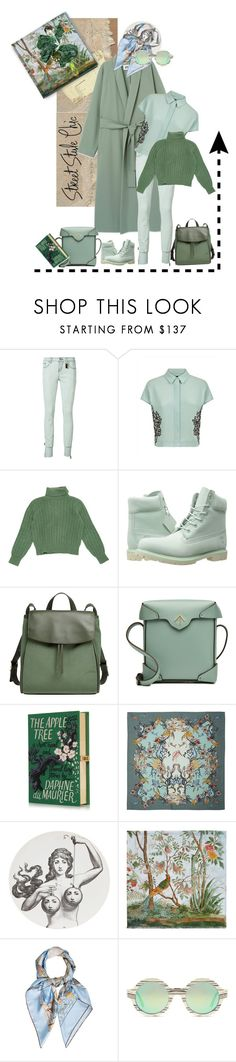 """""""Geen titel #33260"""" by lizmuller ❤ liked on Polyvore featuring Thomas Wylde, Jaeger, Yves Saint Laurent, Timberland, Skagen, MANU Atelier, Klements, Fornasetti, Gucci and Hermès"""