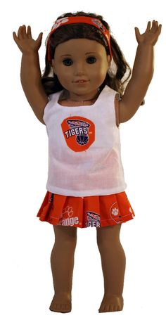$12 Adorable 3 Piece Clemson cheerleading outfit!