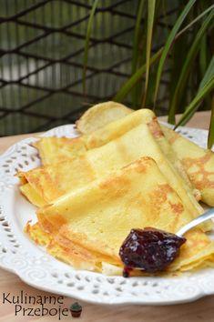 Naleśniki budyniowe - KulinarnePrzeboje.pl Kitchen Recipes, Baby Food Recipes, Cooking Recipes, Eat Breakfast, Breakfast Recipes, Banana Pudding Recipes, Good Food, Yummy Food, Polish Recipes
