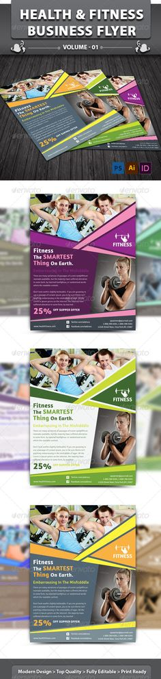 Health & Fitness Center Flyer | Volume 1  #GraphicRiver