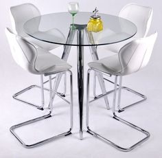 Great This Glass Pub Table Provides A Modern Style Update On A Classic Table. The  Heavy Steel Base Is Topped By A Round, Tempered Glass Table Tou2026