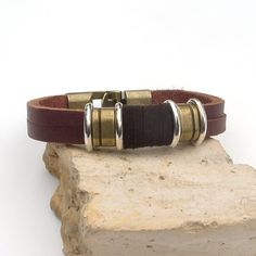 Men's leather bracelet Leather bracelet for men Men's by Jullyet, $24.00