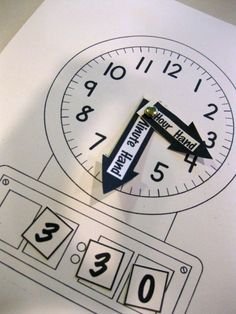 Looking for extra resources to help kids learn to tell time? Check out these fantastic hands-on worksheets and clocks with simple tips to help kids practice telling time. - Kids Clocks - Ideas of Kids Clocks Teaching Time, Teaching Math, Teaching Spanish, Math For Kids, Fun Math, Math Work, Word Work, Math Resources, Math Activities
