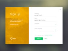 Sign up form by Piotr Zięba - Daily UI Challenge