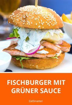 Fischburger mit Grüner Sauce | eatsmarter.de