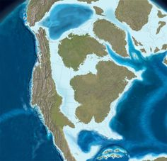 North America in the Late Cretaceous, 75 million years ago. More from source in comments. [1000 x 966]