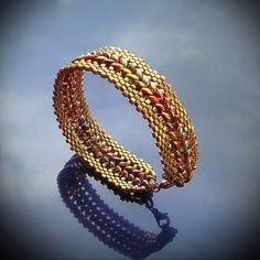 twin bead bracelet pattern. good pix but needs translation. #seed #bead #tutorial