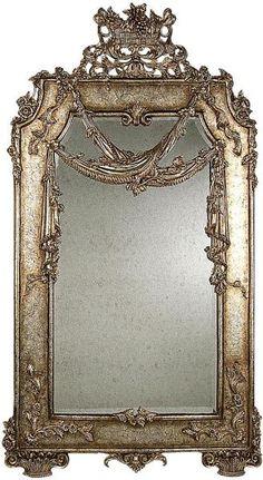 Antique Silver Mirror <3 Mirror Image, Mirror Mirror, French Mirror, Victorian Mirror, Shabby Chic Mirror, Beautiful Mirrors, Through The Looking Glass, Antique Silver, Antique Mirrors