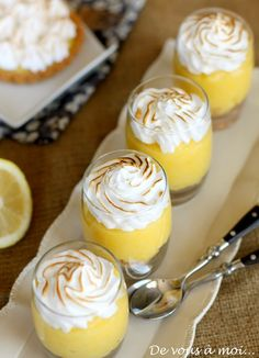 tarte citron revisitée meringuée verrine