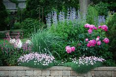 Amazing Pink, White, and Purple Perennial Garden by Rachel Ford James, via Flickr