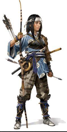 Female Character Concept, Fantasy Character Design, Character Art, Ronin Samurai, Female Samurai, Dnd Characters, Fantasy Characters, Female Characters, Fantasy Warrior