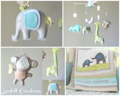 Baby Mobile  Baby crib mobile  Custom Baby Mobile  by LoveFeltXoXo, $115.00