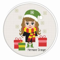 Buy 2 get 1 free. Hermione Granger Christmas Cross Stitch Pattern. Harry Potter - Cross Stitch Pattern.(#P- 1278). Christmas Potter - Modern Cross Stitch Pattern. INSTANT DOWNLOAD  ********** BUY 2 GET 1 FREE (of equal or lesser value) **********  **** Free selection is not included with instant download, it is sent manually. **** Free selection is NOT to be purchased, only noted.  (Add 2 patterns to your cart and write to me # from the title of 3 pattern into the Note to CrossStitchByGlazov…