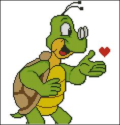 Evas Designs: Turtle kiss  PDF Kreuz Stichbild von EvasDesignsBg