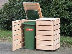 2er Mülltonnenbox Holz - Made in Germany - Holzweise
