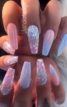 Top 100 Acrylic Nail Designs of May Page 20 Topp 100 akryl negledesign fra mai Side 20 # Classy Acrylic Nails, Best Acrylic Nails, Cute Acrylic Nails, Cute Nails, Pretty Nails, Acrylic Nails For Summer Coffin, Acrylic Nail Designs For Summer, Acrylic Nail Designs Coffin, Acrylic Art