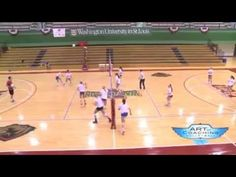 ISU Transition Drill - Christy Johnson-Lynch - Art of Coaching VB  Transition drill that works on the front row transitioning from defense to offense, including the libero setting an out of system ball.   Learn more on www.theartofcoachingvolleyball.com
