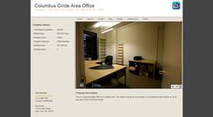 Columbus Circle Area Office - This is a separate large office in a creative firm. The office is set up for two people. It is available to rent monthly or up to one year. Price: $ 920 per month