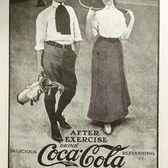 Coca-Cola ad from McClure's Magazine, August 1905 Coca Cola Ad, Exercise, Magazine, Ejercicio, Excercise, Exercise Workouts, Magazines, Physical Exercise, Work Outs