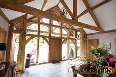 Stunning single storey glazed oak extension - Oakmasters - View of the main entrance