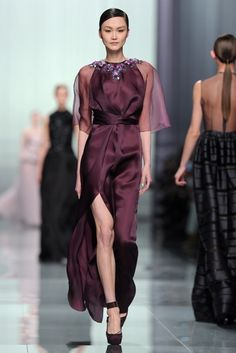 Christian Dior- Fall 2012  love the plum/eggplant colour