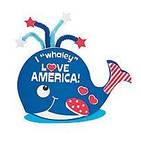 Patriotic Whale Magnet Craft Kit - 13729591