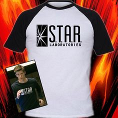 THE FLASH INSPIRED T-SHIRT STAR LABORATORIES SCREENPRINTED